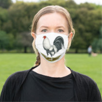 American Game Silver Blue Gamecock Cloth Face Mask