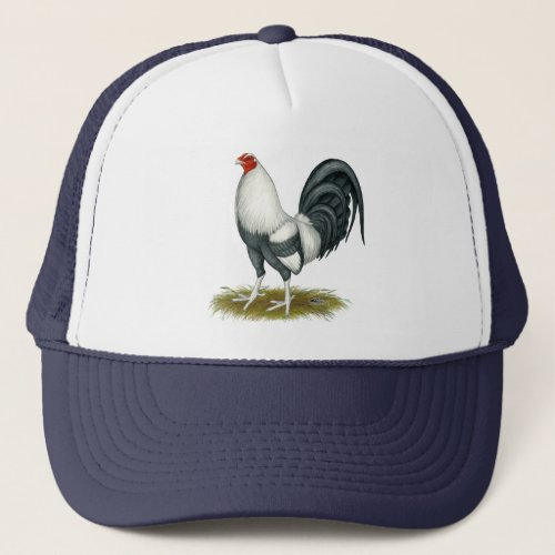 American Game Silver Blue Gamecock Trucker Hat