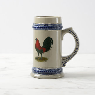 American Gamecock:  Brown Red Beer Stein