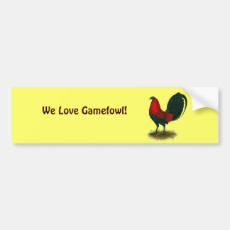 American Gamecock:  Brown Red Bumper Sticker