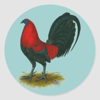 American Gamecock:  Brown Red Classic Round Sticker