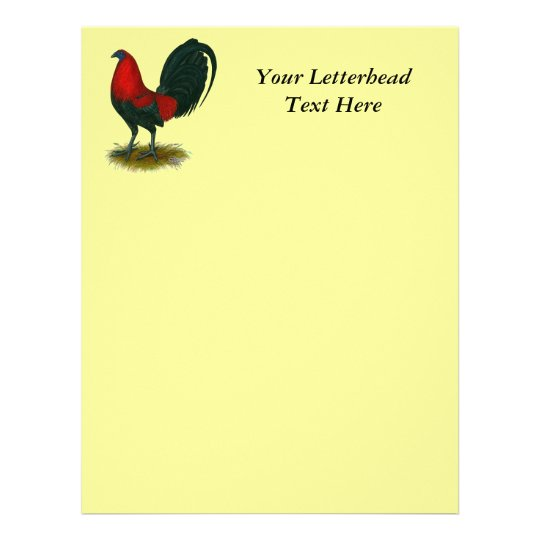 American Gamecock:  Brown Red Letterhead