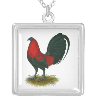 American Gamecock:  Brown Red Necklaces