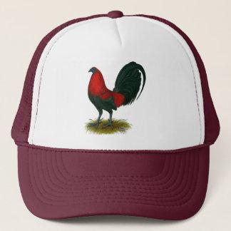 American Gamecock:  Brown Red Trucker Hat
