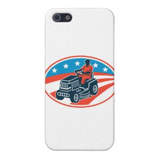 American Gardener Mowing Lawn Mower Retro iPhone 5/5S Cases