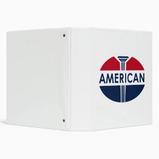 American Gas Station sign. Flat version 3 Ring Binder