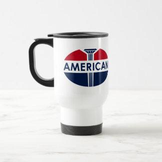 American Gas Station sign. Flat version Mugs