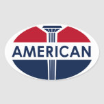 American Gas Station sign. Flat version Stickers