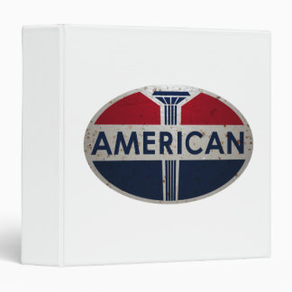 American Gas Station sign. Rusted version 3 Ring Binder