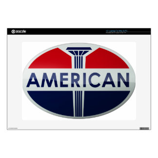 "American Gas Station vintage sign crystal version Decal For 15"" Laptop"
