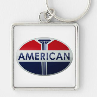 American Gas Station vintage sign crystal version Keychain