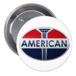 American Gas Station vintage sign crystal version Pinback Button
