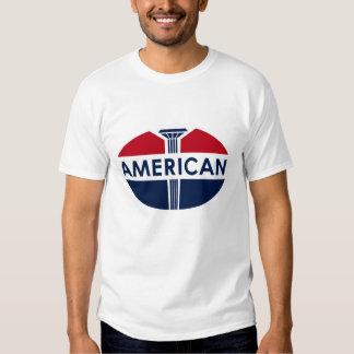 American Gas Station vintage sign flat version. T Shirt