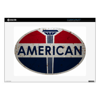 American Gas Station viontage sign rusted version Skins For Laptops