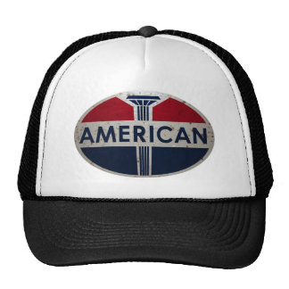 American Gas Station viontage sign rusted version Trucker Hat