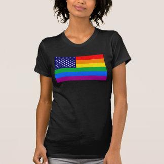 American Gay Pride Flag - Gaymerican Pride Flag T-Shirt