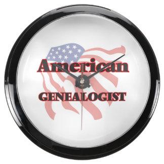 American Genealogist Aquarium Clock