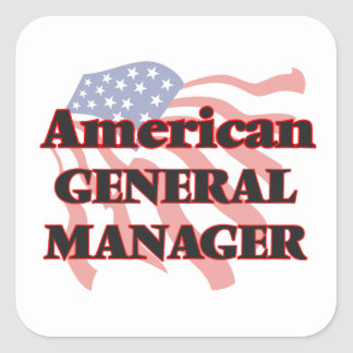 American General Manager Square Sticker