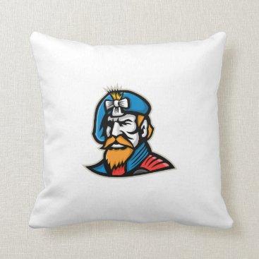 American General Mascot Throw Pillow
