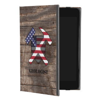 American Geologist's Rock Hammer and Shield iPad Mini 4 Case