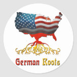 American German Roots Classic Round Sticker