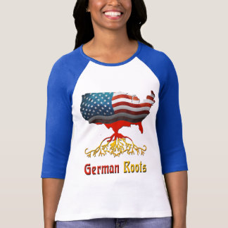 American German Roots Ladies T-Shirts