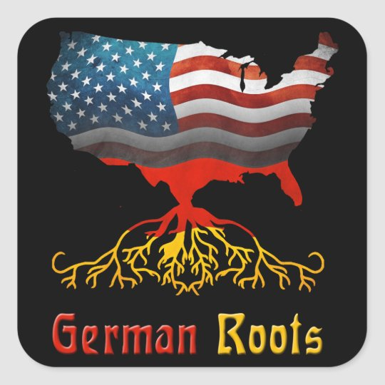 American German Roots Stickers