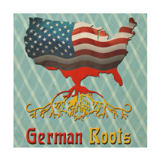 American German Roots Wood Wall Art