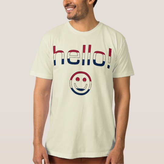 American Gifts : Hello + Smiley Face T-Shirt