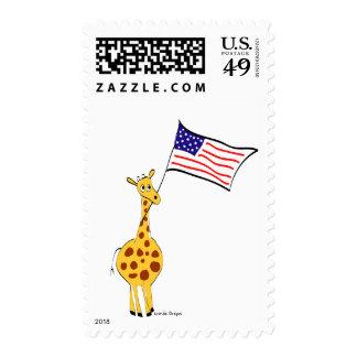 American Giraffe Postage Stamp