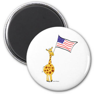 American Giraffe Refrigerator Magnet