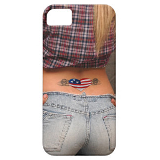 American Girl American the USA Flag Tatoo Patriot iPhone SE/5/5s Case