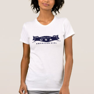 American Girl Born 1975 USA Ladies T-shirt