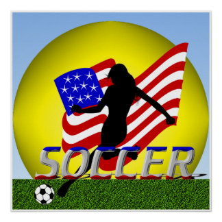 American Girl Lady Soccer Poster