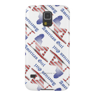 American Girl Silhouette Flag Galaxy S5 Case