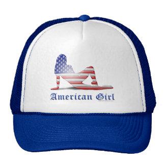 American Girl Silhouette Flag Trucker Hats