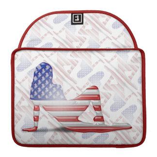American Girl Silhouette Flag MacBook Pro Sleeve