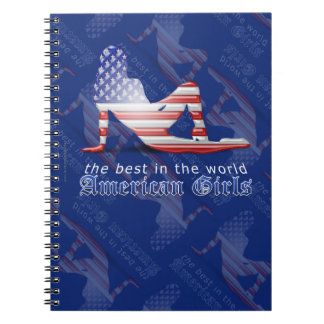 American Girl Silhouette Flag Notebook