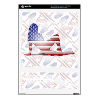 American Girl Silhouette Flag Skins For Xbox 360 S