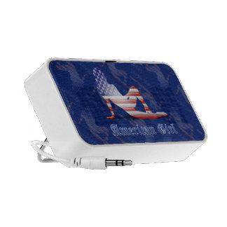 American Girl Silhouette Flag iPhone Speakers