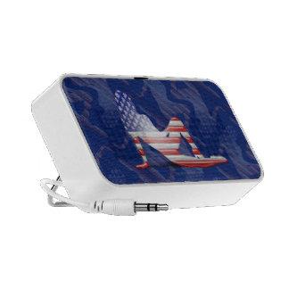 American Girl Silhouette Flag Portable Speaker