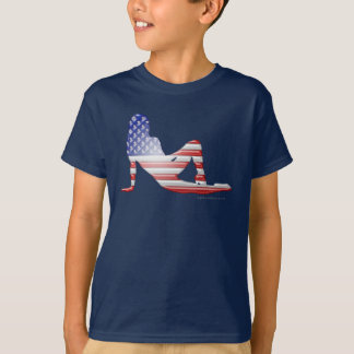 American Girl Silhouette Flag T-Shirt