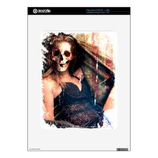 American Girl Skull Skeleton Creepy iPad Decals