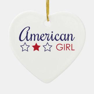 American Girl Stars Ceramic Ornament