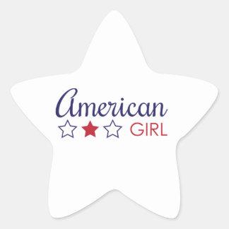 American Girl Stars Sticker