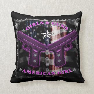 American Girls love guns and diamonds Pillow