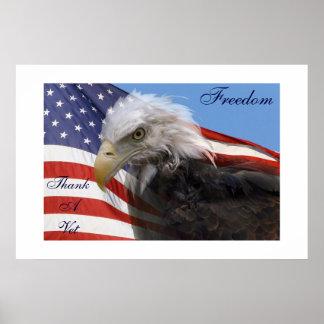 American Glory Thank A Vet Poster
