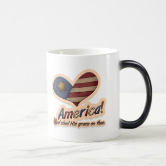 American God Shed His Grace On Thee Patriotic Magic Mug