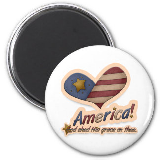 American God Shed His Grace On Thee Patriotic Magnet