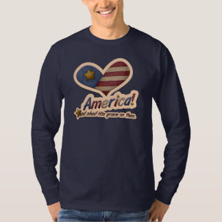 American God Shed His Grace On Thee Patriotic T-Shirt